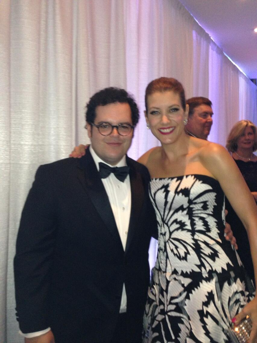 Kate Walsh and Josh Gad at White House Correspondents' Dinner
