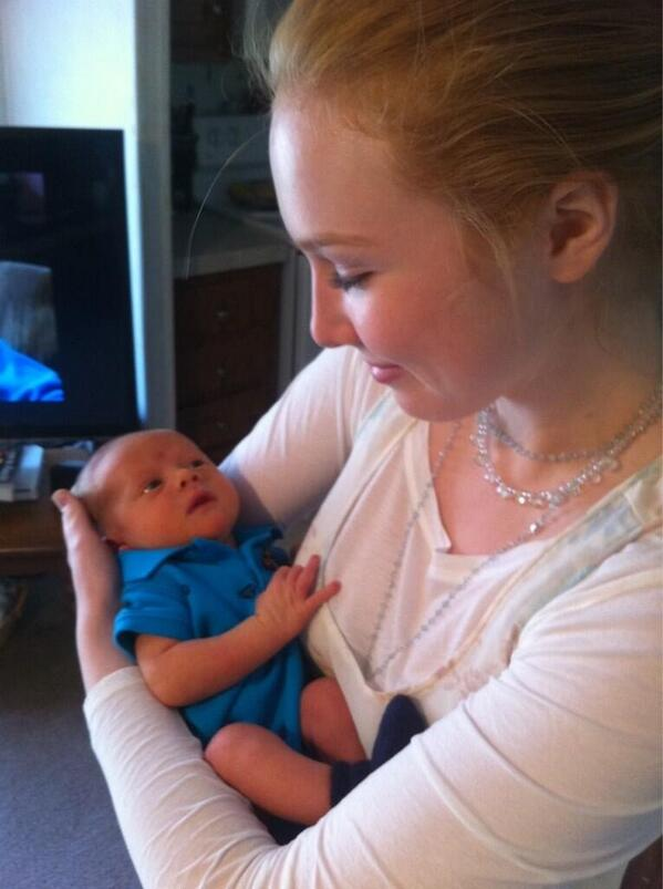 castle asia on twitter molly quinn holding her baby nephew with