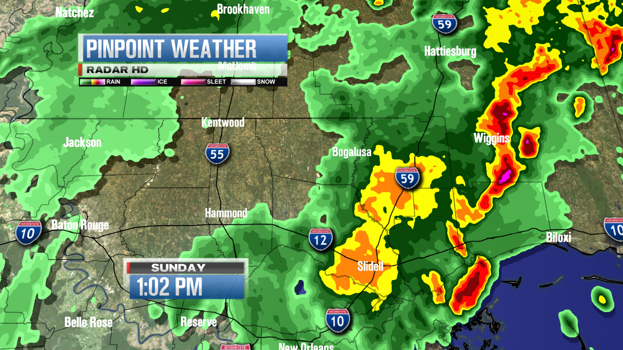 Twitter / wwltvweather: Northshore radar check at 1pm: ...