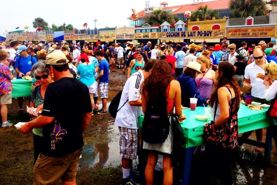 Twitter / PMurphyWWL: Jazz Fest is a mud bowl, but ...