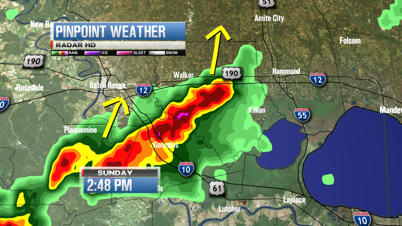 Twitter / ACranfordWWL: Storms are forming up near ...