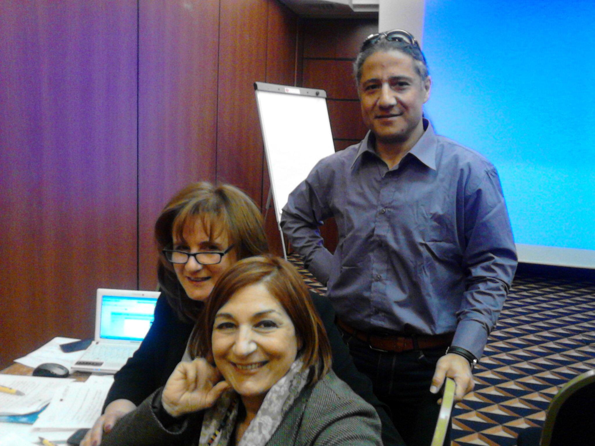 il mio gruppo di lavoro, tre componenti: Io, Mariateresa Gargiulo e Rachele Morga