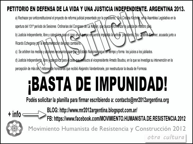 Petitorio por la Justicia Independiente | MR2012