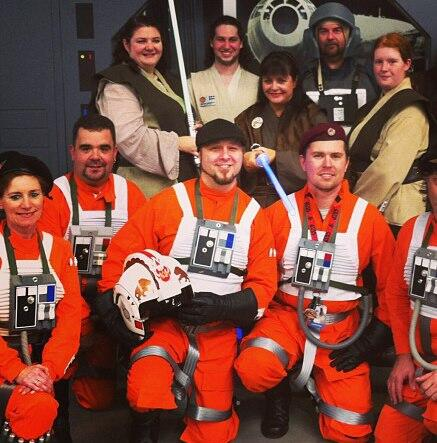On Saturday, the @RebelLegion made me an honorary member. They even made me an X-Wing pilot's uniform #StarWars #SWEU pic.twitter.com/z2tU5V4GoM