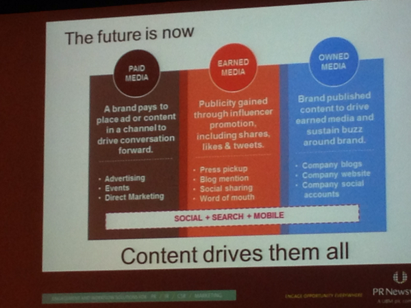 Goal is to find content that applies across paid, earned, and owned. #bdi1 http://t.co/7Q03bm0F0d