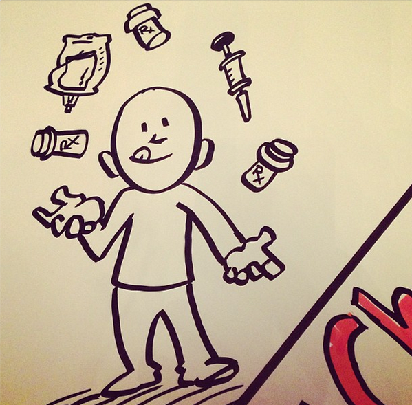 Looks like there's a lot to juggle in healthcare! #TEDMED Discovery Doodle by @DianeDurand via @MsWZ @TEDMED pic.twitter.com/quS67x4SmT