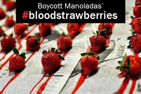 Boycott Manolada strawberries graphic, tweeted by @giannisg_