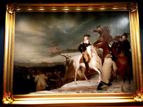 #teamdale #medium of this painting is canvas, to convey a larger than life feel, reflecting GW's importance #ed105 pic.twitter.com/i0vhDFKmX7