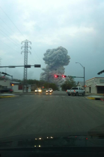 BREAKING: Multiple injuries reported after explosion at fertilizer plant in West, TX (north of Waco). http://pic.twitter.com/jSOi5m3ele