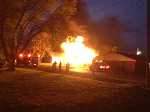BREAKING PHOTO: One of the fires burning after a major explosion at a fertilizer plant near Waco, TX - @kirstencrow pic.twitter.com/13ofXoXoJN