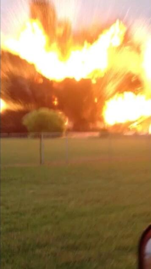BREAKING PHOTO: Incredible still image taken from video capturing West Texas fertizlier plant explosion - (FOX 44) pic.twitter.com/dJuEZrIT6I