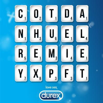 durex south africa on twitter how many sexy words can you make using only these letters the best will be rt wordsearch httptcoeb0mea8ozj