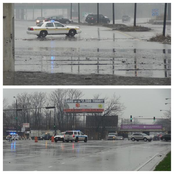 Stony Island is flooded out as well. #chicago #flood #rain pic.twitter.com/4how92liO7
