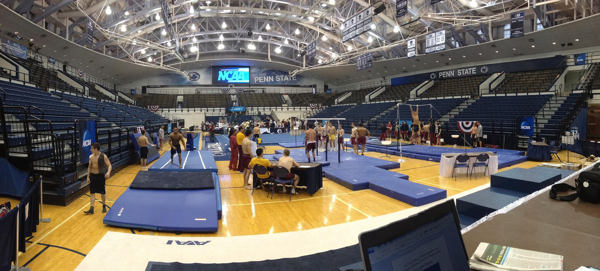 Twitter / USAGym: Practice is underway at the ...