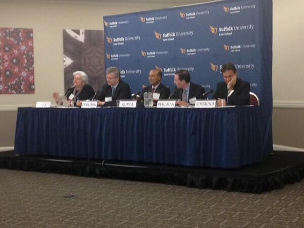 Our panel is underway at the #SUFutureLaw event. pic.twitter.com/rLGm84VhwD