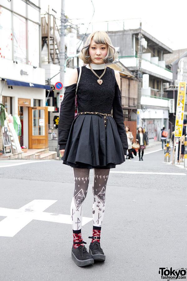 Tokyo Fashion On Twitter Cute Short Hairstyle In Harajuku W Cutout Dress Shojono Tomo Tokyo Bopper Http T Co J76yw7yqyx Http T Co Yzcwcqejbh