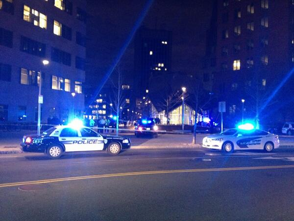 What's info on cop down? MT @nxthompson: RT @tomlinm: Unreal. Officer down at MIT building shooting. pic.twitter.com/QnDld38Q9h