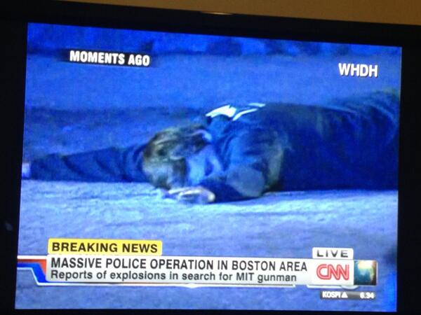#watertown ==>RT @kathrynswartz Image of suspect on ground pic.twitter.com/vVr2r1QLvX