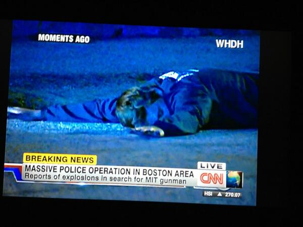 BREAKING PHOTO: CNN affiliate WHDH showing this picture of guy on the ground in Watertown, Mass  pic.twitter.com/P2yziVOCvL