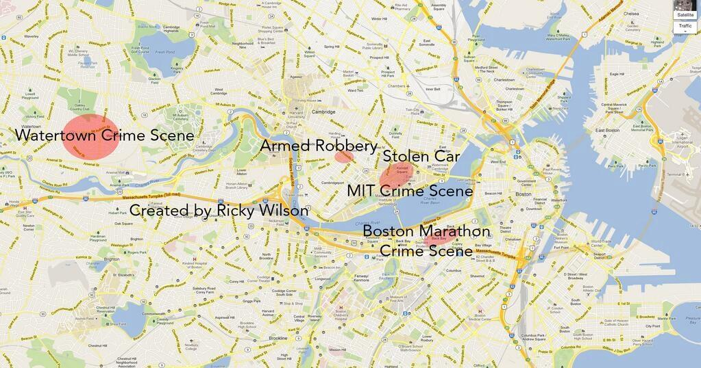 Twitter / NewsBell: Google map showing tonight's ...