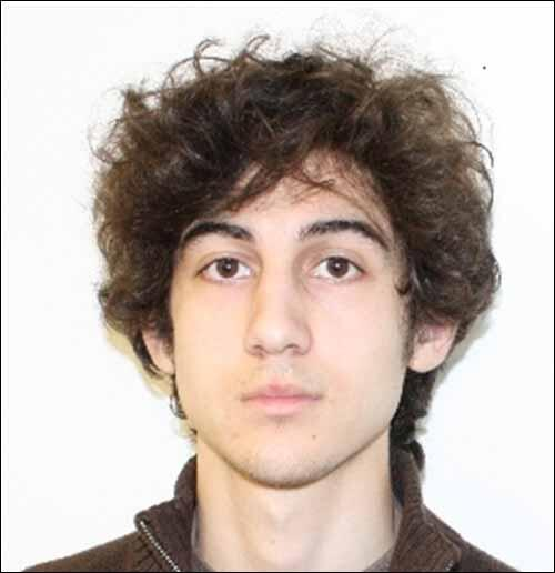 FBI release clear photo of #BostonMarathon suspect Dzhokhar Tsarnaev, 19, who is still at large in Boston area. http://pic.twitter.com/vp3Z6T2zMH