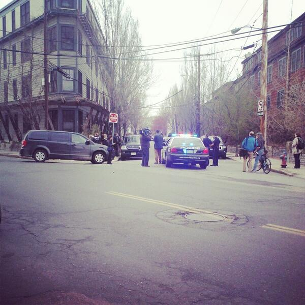 Theres a scene outside of my house. Police FBI Media #PrayForBoston http://pic.twitter.com/kVwCew9jmZ