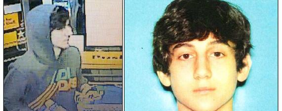 Photos of Dzhokhar Tsarnaev, the #BostonMarathon suspect still at large. More: on.wsj.com/12s7b5C pic.twitter.com/i4ofAJvCRm
