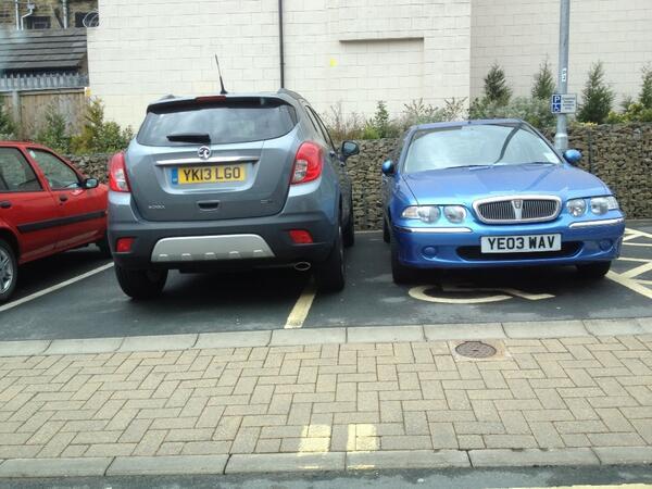 YK13 LGO displaying Selfish Parking
