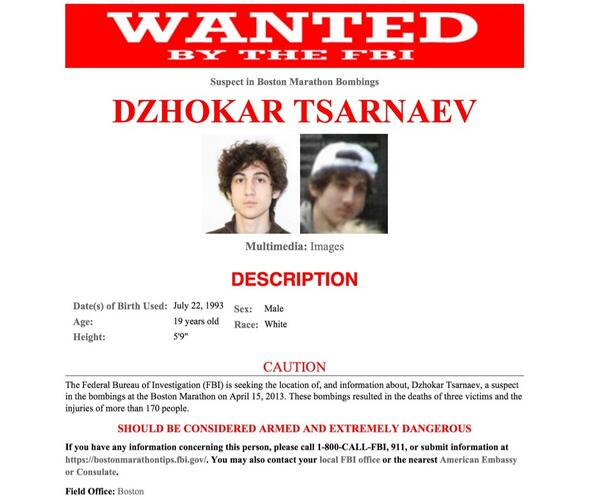 RT @nycjim: RT @nbcnightlynews: FBI wanted poster for Boston bombing suspect Dzhokar Tsarnaev pic.twitter.com/oaLRoG0jXV