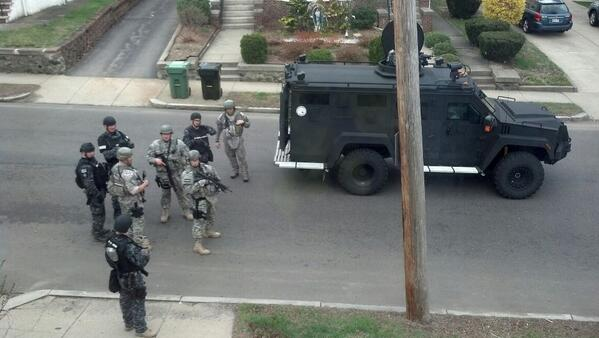 Picture from a friend who lives in #watertown, outside her window. pic.twitter.com/oaROYE1ZeI