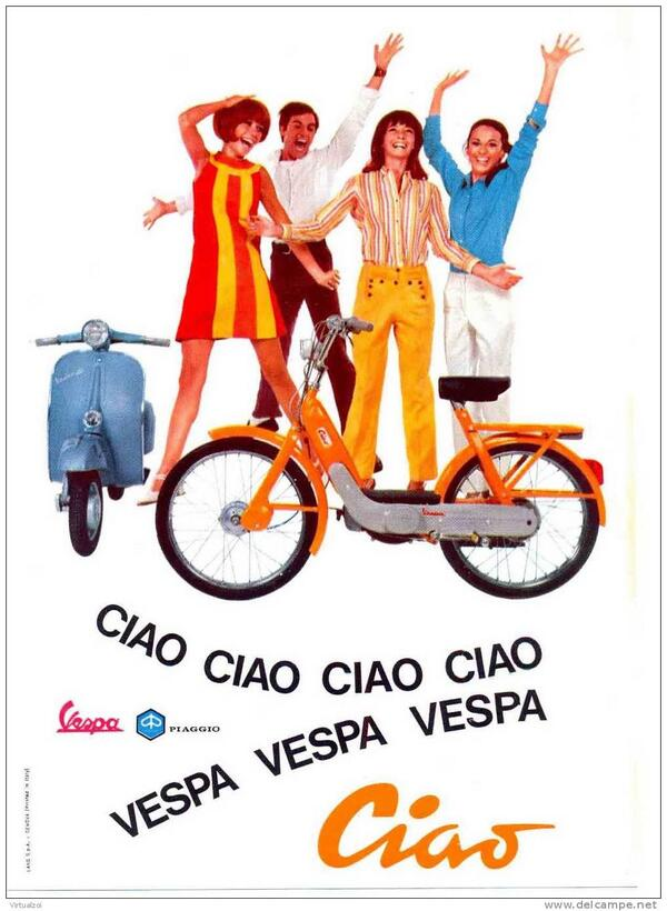 The quintessence of Piaggio philosophy;Vespa and Ciao. http://t.co/8OmJz7fTGJ