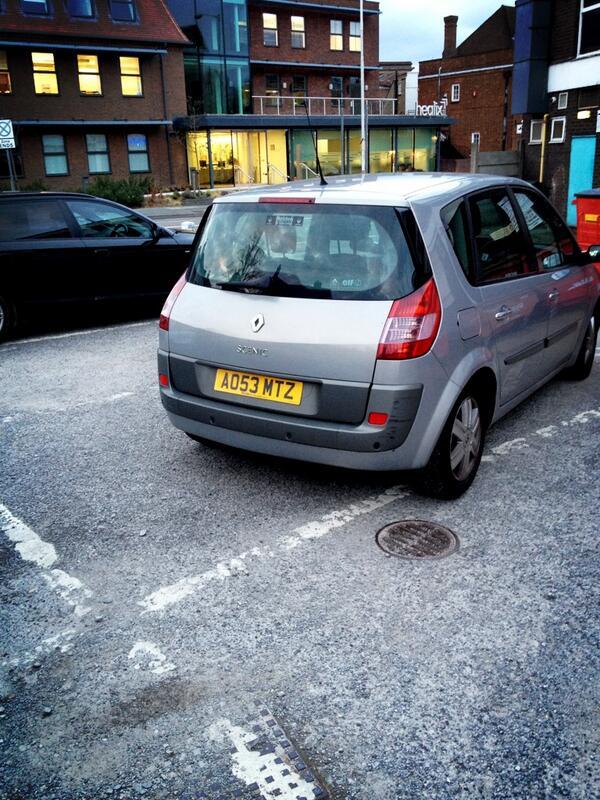 AD53 MTZ displaying Selfish Parking