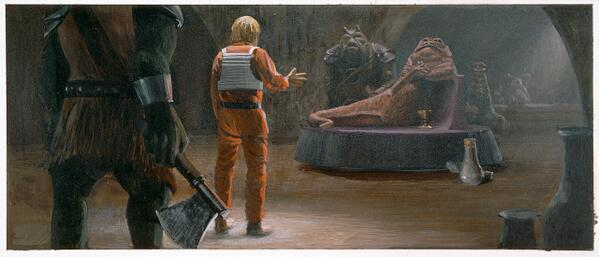 Ralph McQuarrie's original concept for Jabba the Hutt, the beginnings of the villainous slug. #CharacterOfTheWeek pic.twitter.com/kmByR753U2