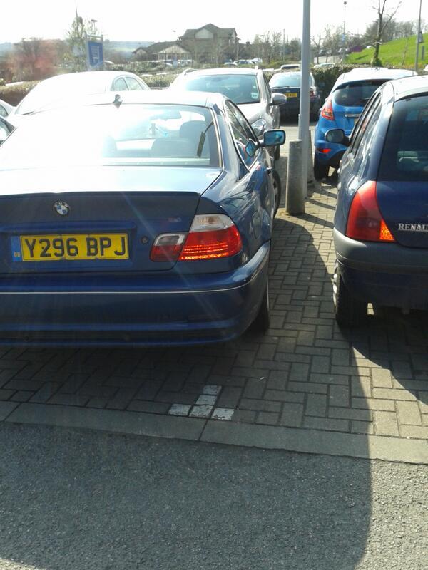 Y296 BPJ displaying crap parking