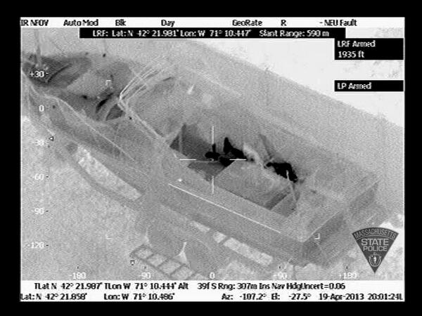 Air Wing views from Watertown manhunt. 5 total pics released.No further info available tonight on pictures