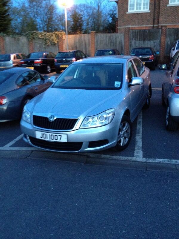 J01 1007 displaying Selfish Parking