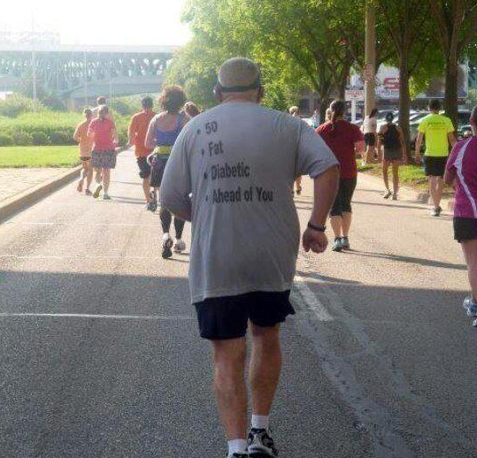 Picture: T shirt of the day from the 2013 London Marathon