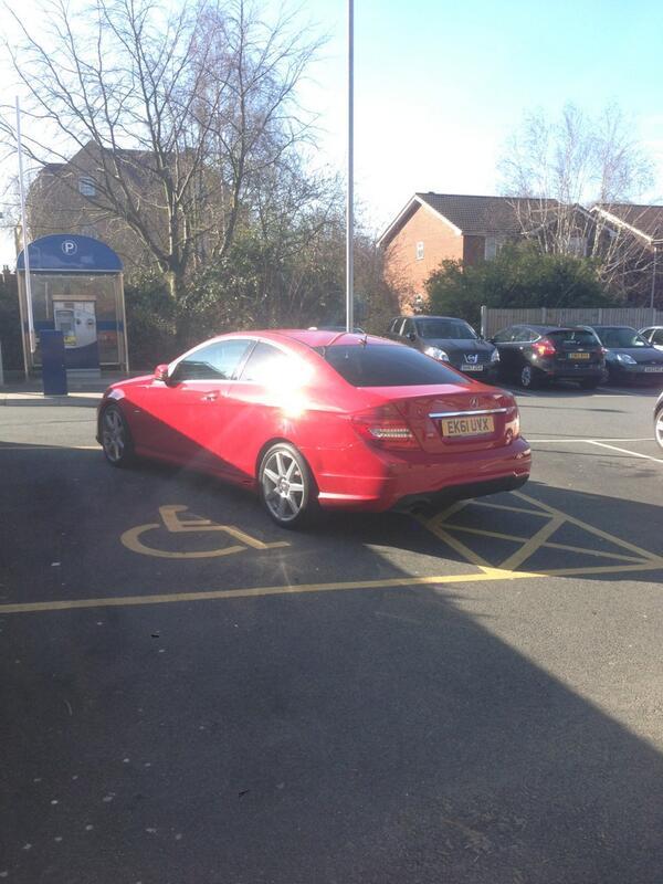 EK61 UVX displaying Inconsiderate Parking