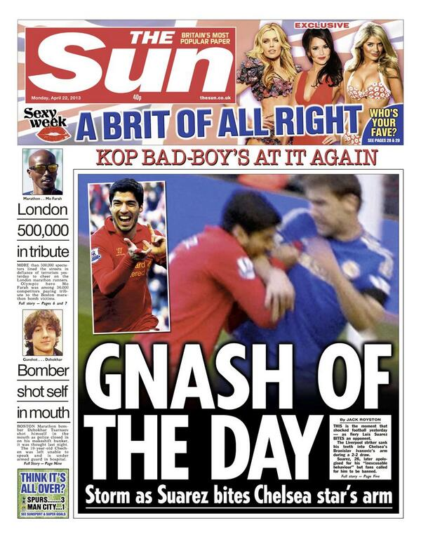 Suarez described as a Disgrace & a Cannibal