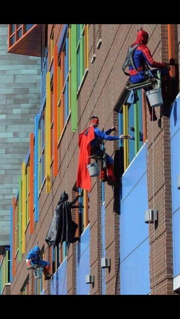 Twitter / rickygervais: These window washers at a ...