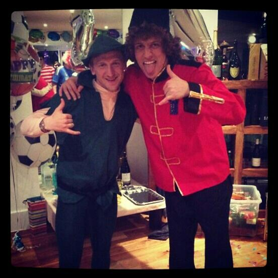 Marko Marin Tweets pictures of the Chelsea fancy dress party