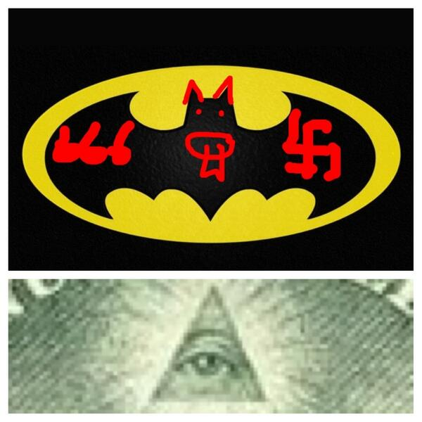 "STOP THE ILLUMINATI on Twitter: ""DOES THE BATMAN SYMBOL ..."
