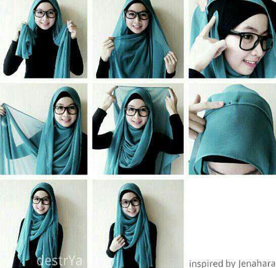Gallery For > Hijab Tutorial 2013