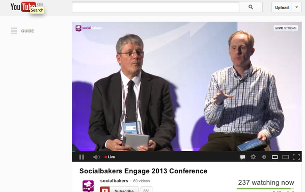 """""""Social media needs to get out of the marketing suite"""" @andrewgrill (pictured right, @jangles on left) #engage2013 pic.twitter.com/hCCaqInKYc"""