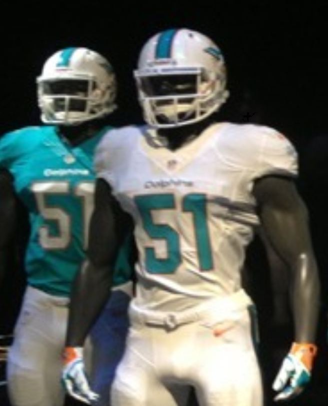 dolphins away jersey