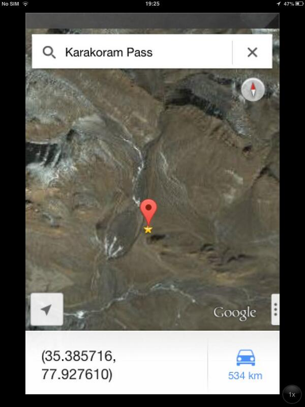 16. #Standoff:SSN 17000ft+ plateau lies 50 km due East of Siachen glacier.Karakoram Pass is in its North.See map. http://pic.twitter.com/xPIsJRIUDp