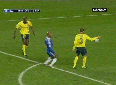 %name Picture & GIF: Gerard Pique got away with a handball v Bayern Munich