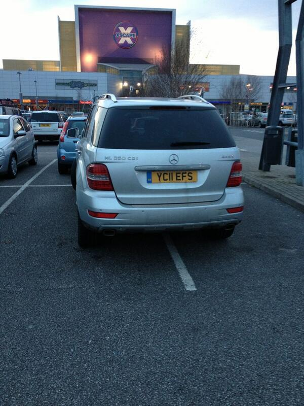 YC11 EFS displaying Inconsiderate Parking