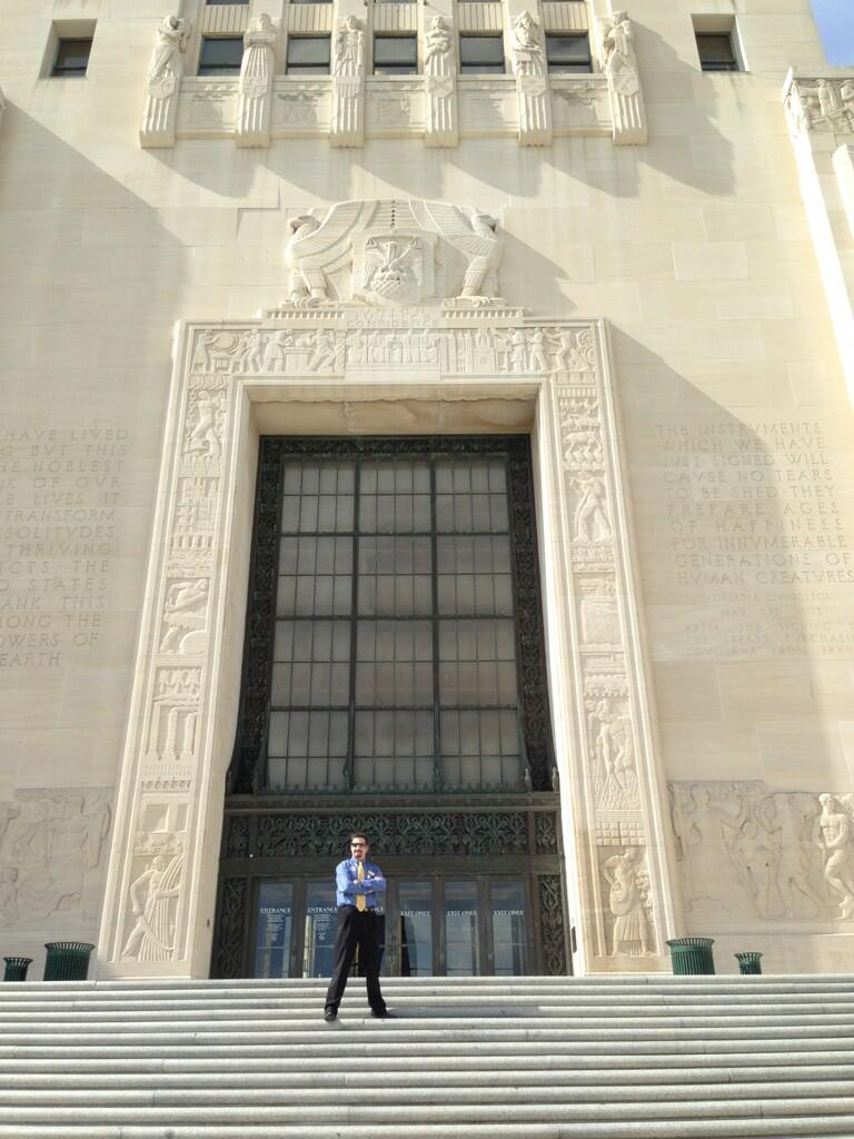 Twitter / ArtsCenla: Matt in front of the State ...