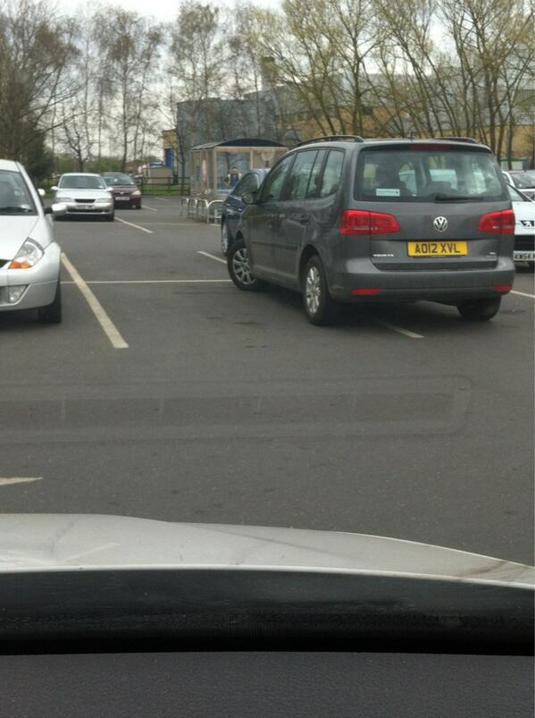 AO12 XVL displaying Selfish Parking